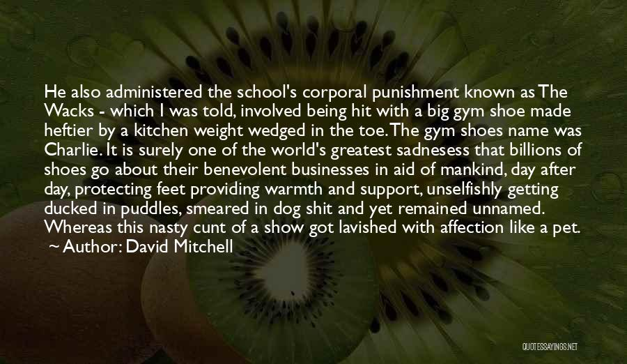 Punishment In School Quotes By David Mitchell