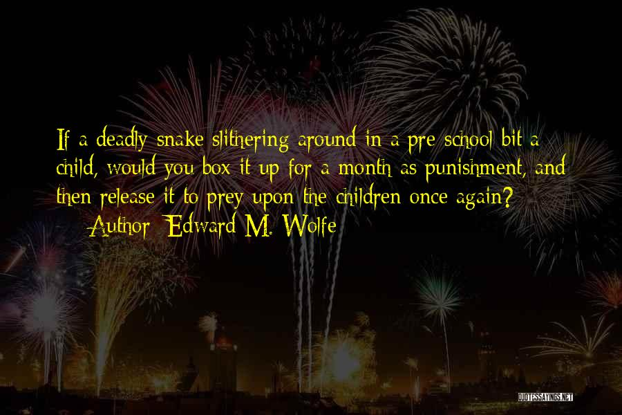 Punishment In School Quotes By Edward M. Wolfe