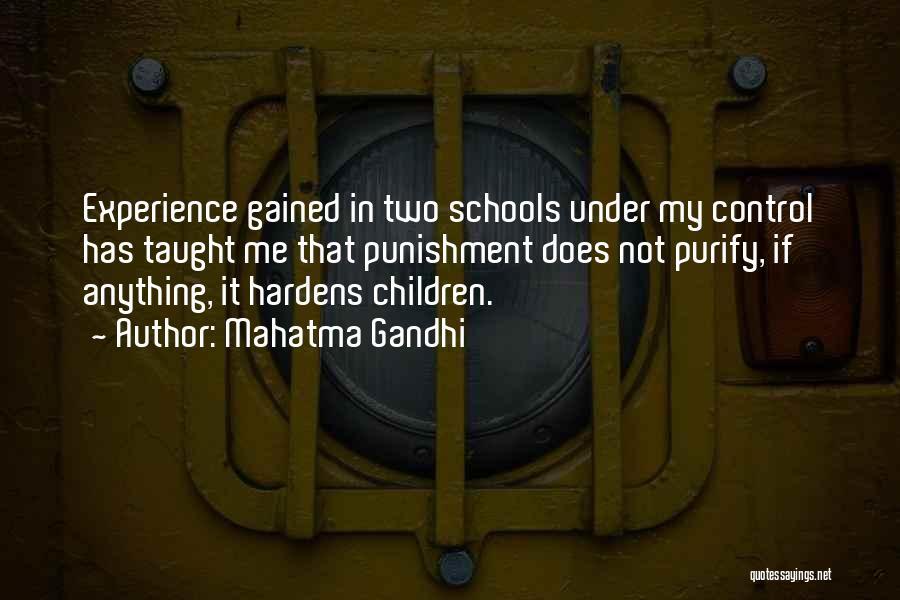 Punishment In School Quotes By Mahatma Gandhi