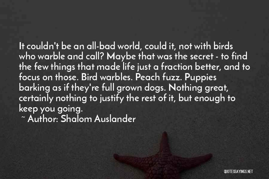Puppies Quotes By Shalom Auslander