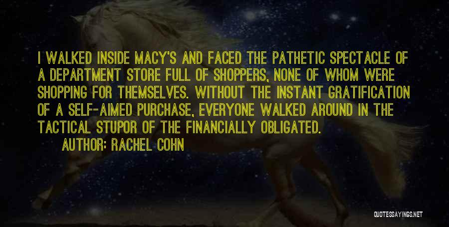Purchase Department Quotes By Rachel Cohn