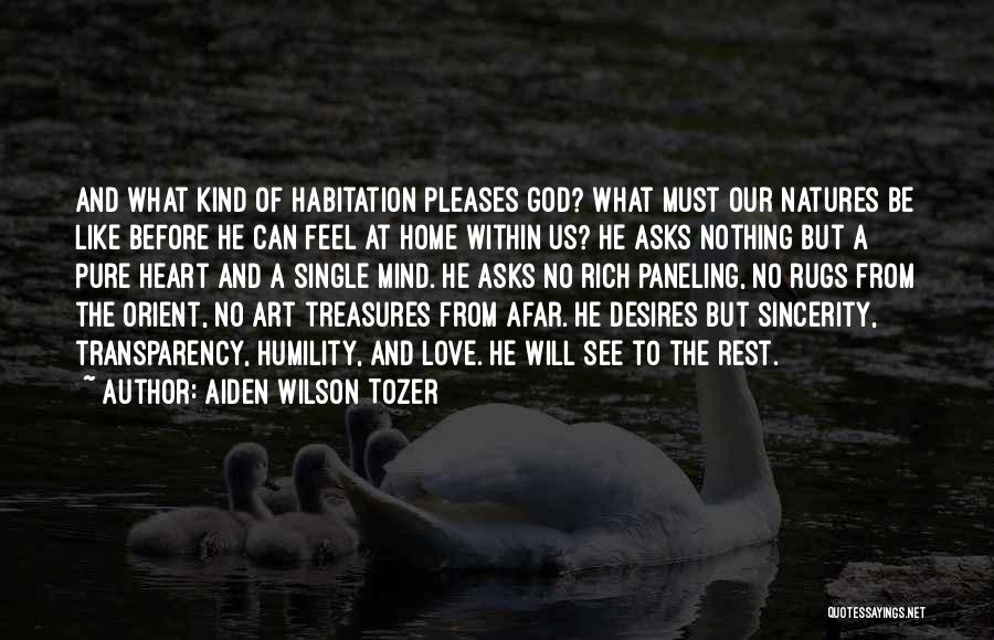 Pure From Heart Quotes By Aiden Wilson Tozer