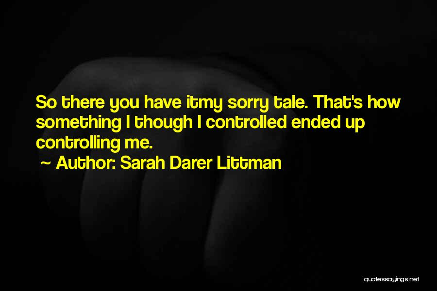 Purging The Past Quotes By Sarah Darer Littman