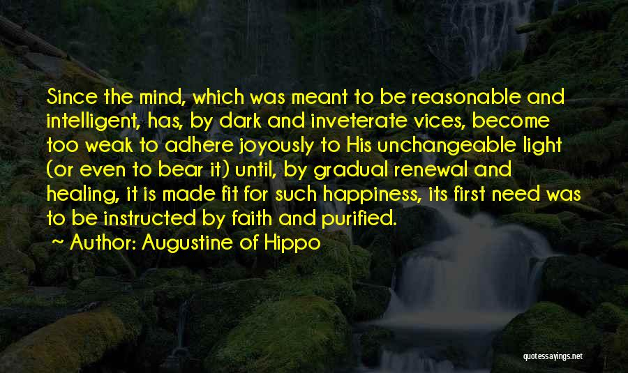 Purified Quotes By Augustine Of Hippo