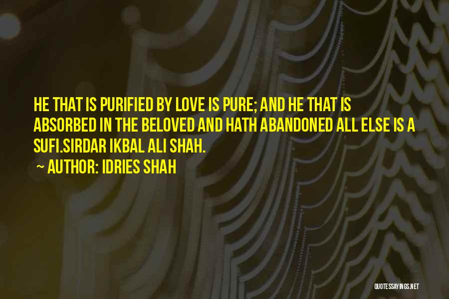 Purified Quotes By Idries Shah