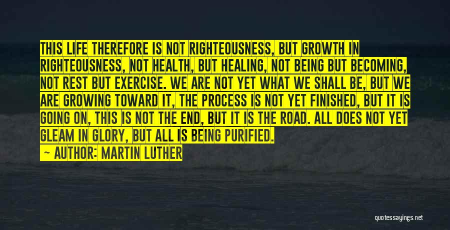 Purified Quotes By Martin Luther