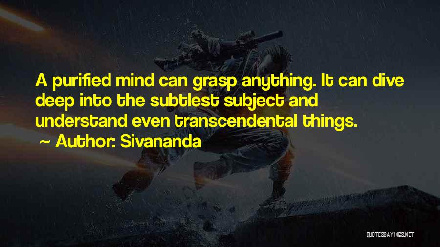 Purified Quotes By Sivananda