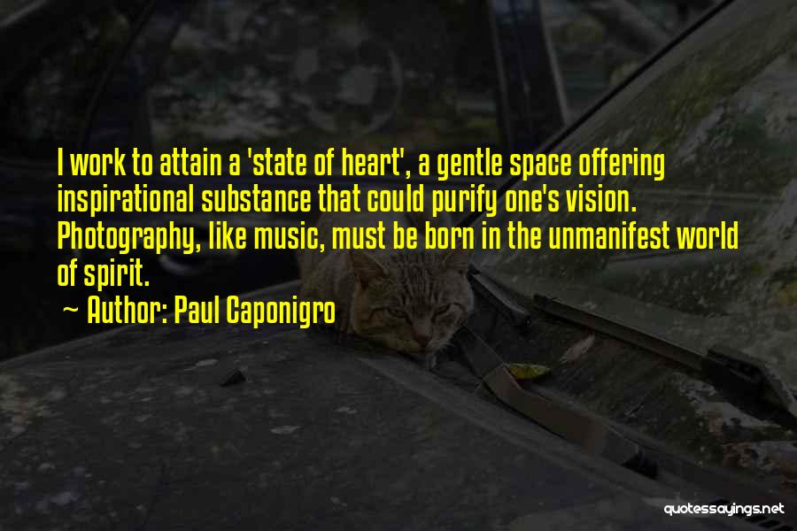 Purify My Heart Quotes By Paul Caponigro