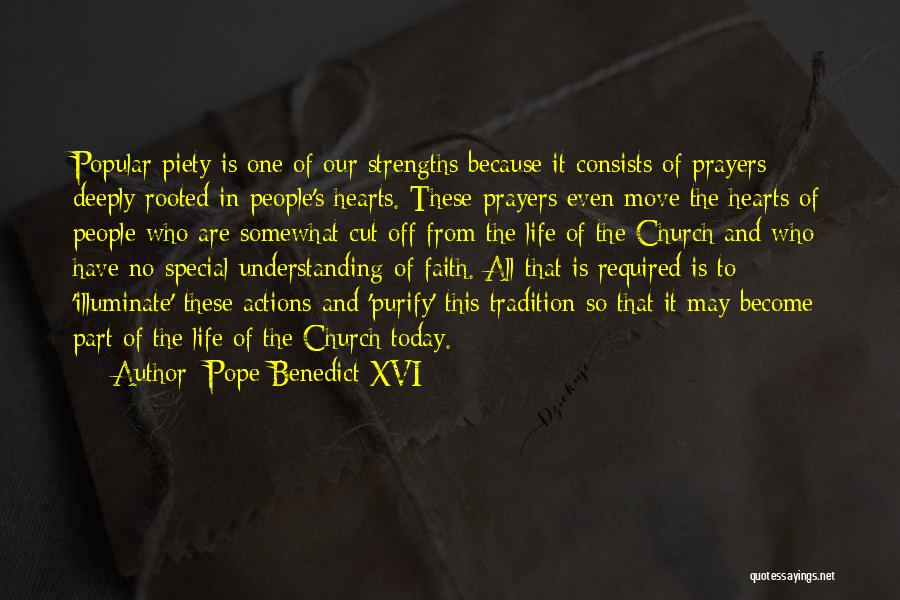 Purify My Heart Quotes By Pope Benedict XVI