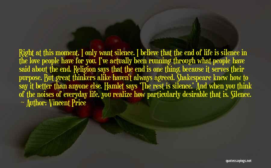 Purpose Of Love Quotes By Vincent Price