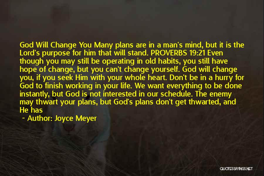 Purpose To Life Quotes By Joyce Meyer