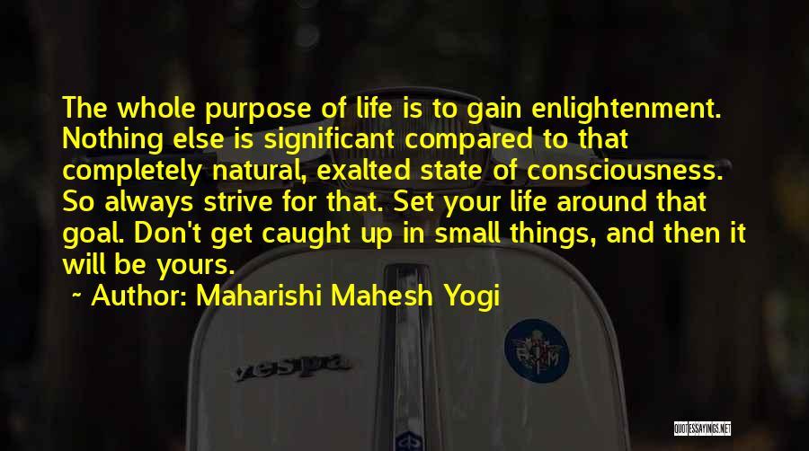 Purpose To Life Quotes By Maharishi Mahesh Yogi