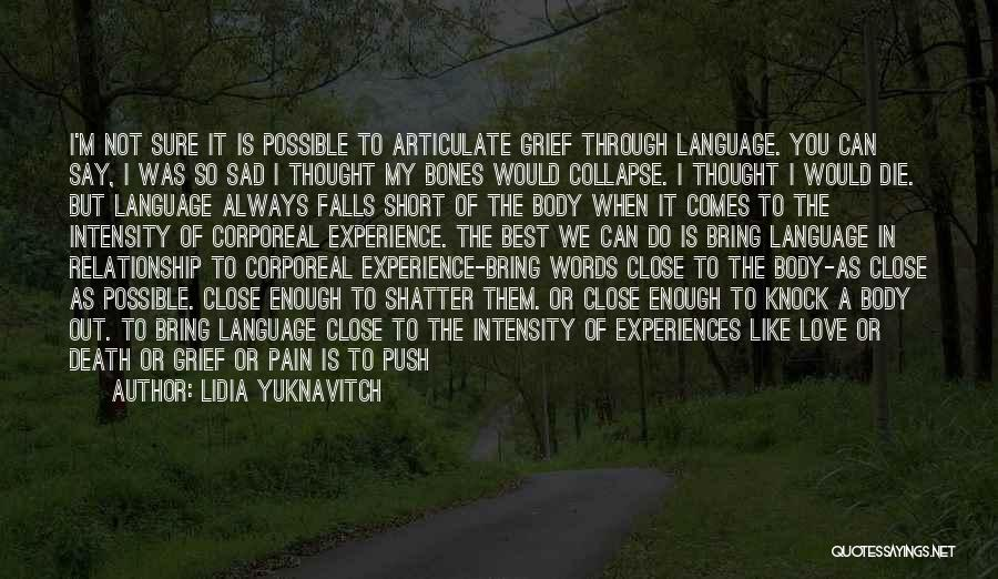 Push Through The Pain Quotes By Lidia Yuknavitch