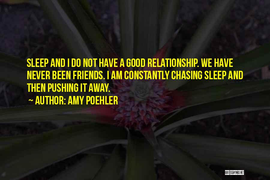 Pushing Friends Away Quotes By Amy Poehler