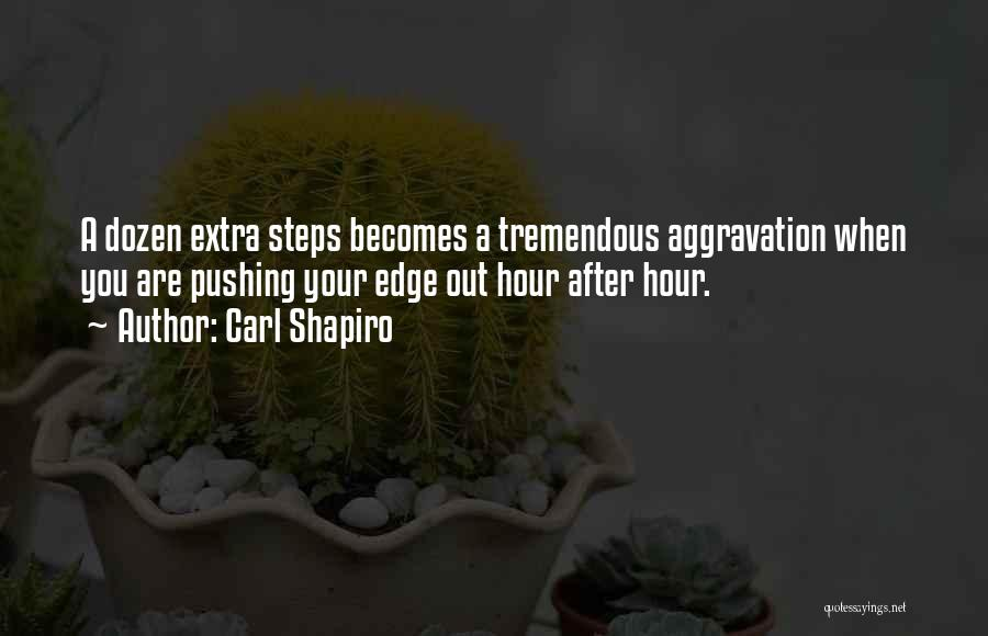 Pushing Me Over The Edge Quotes By Carl Shapiro