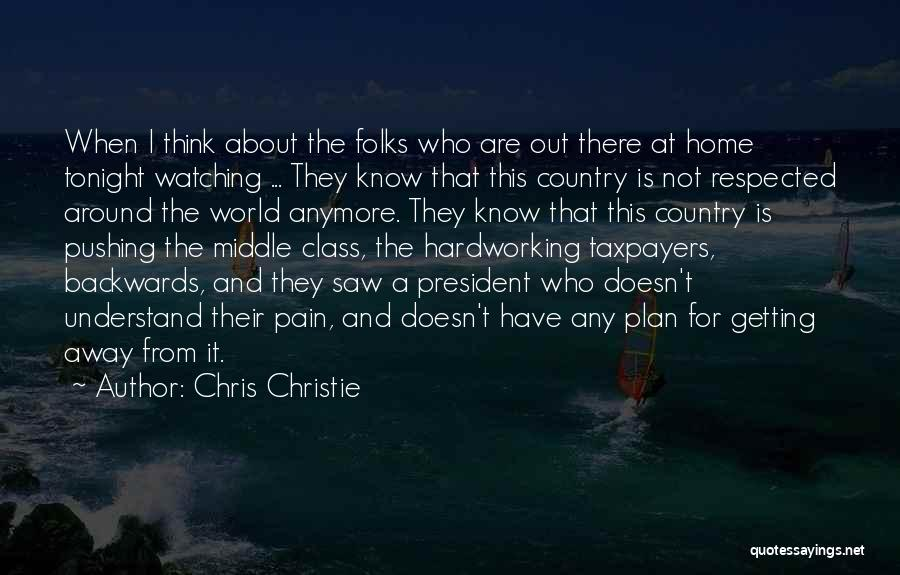 Pushing Past The Pain Quotes By Chris Christie