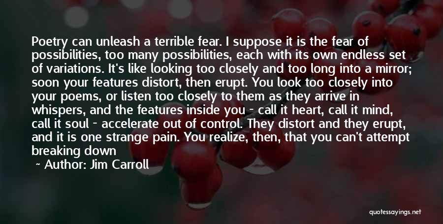 Pushing Past The Pain Quotes By Jim Carroll