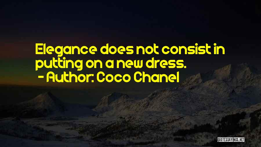 Putting Quotes By Coco Chanel