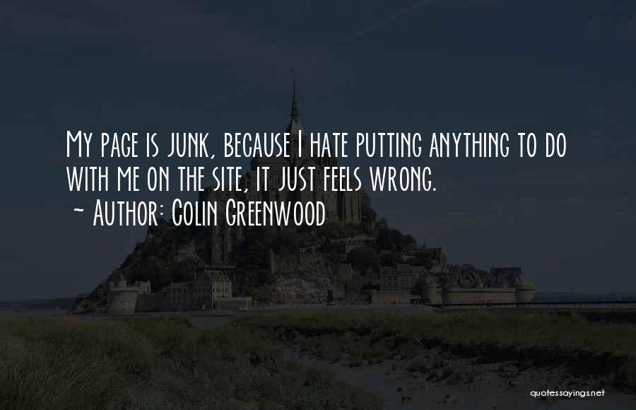 Putting Quotes By Colin Greenwood