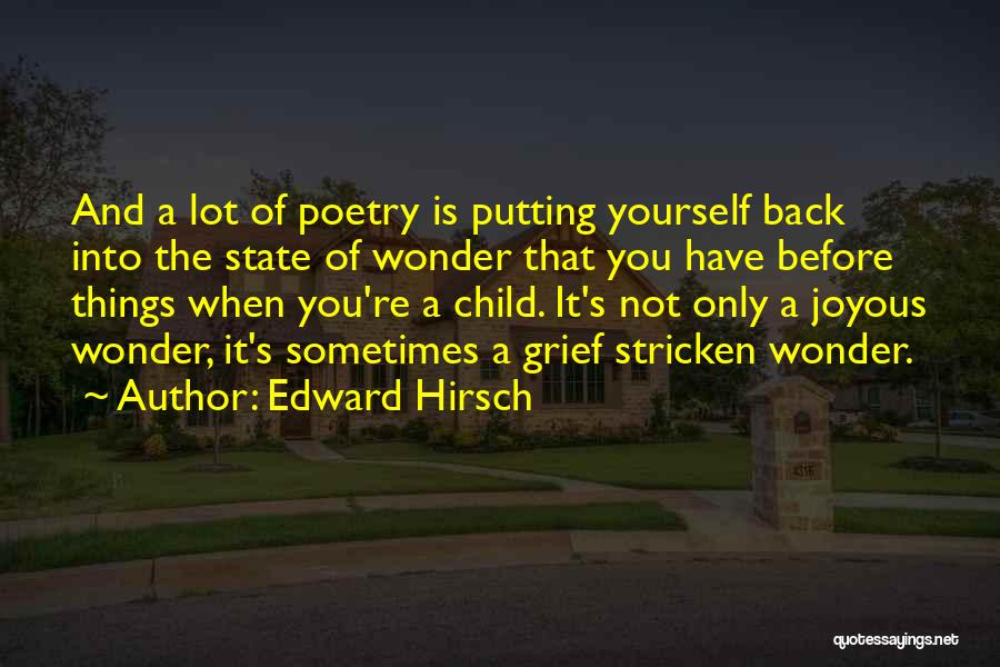 Putting Quotes By Edward Hirsch