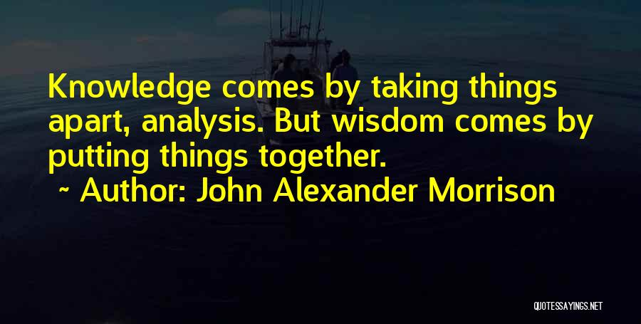 Putting Quotes By John Alexander Morrison