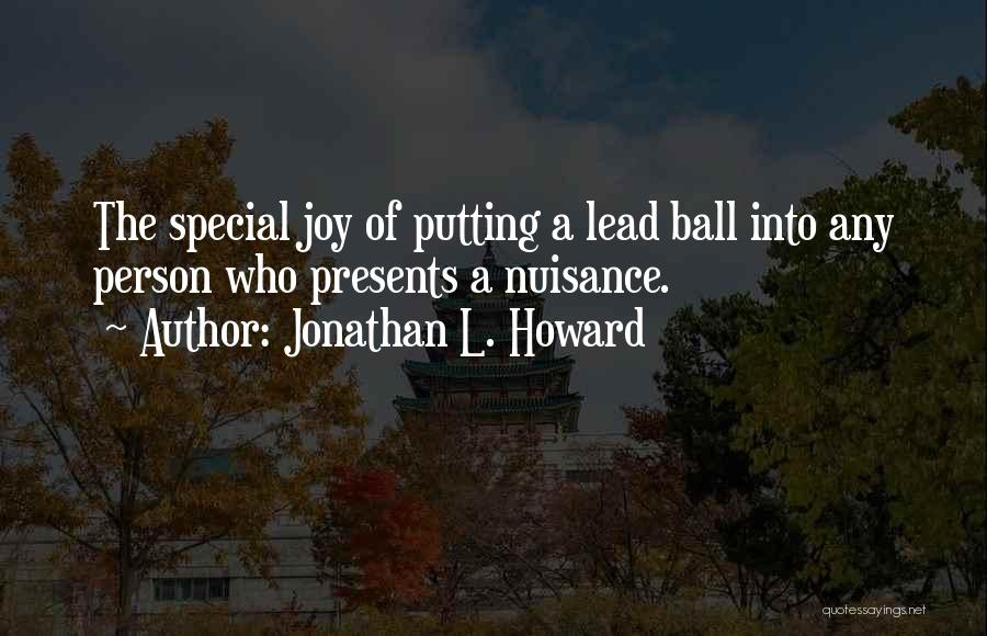 Putting Quotes By Jonathan L. Howard