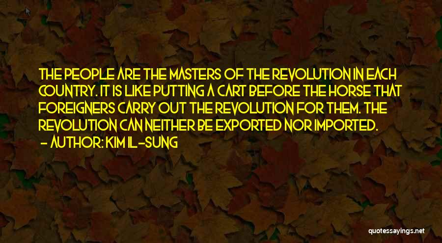 Putting The Cart Before The Horse Quotes By Kim Il-sung