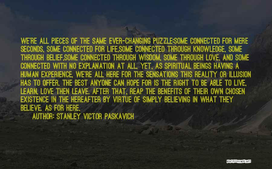 Puzzle Pieces And God Quotes By Stanley Victor Paskavich