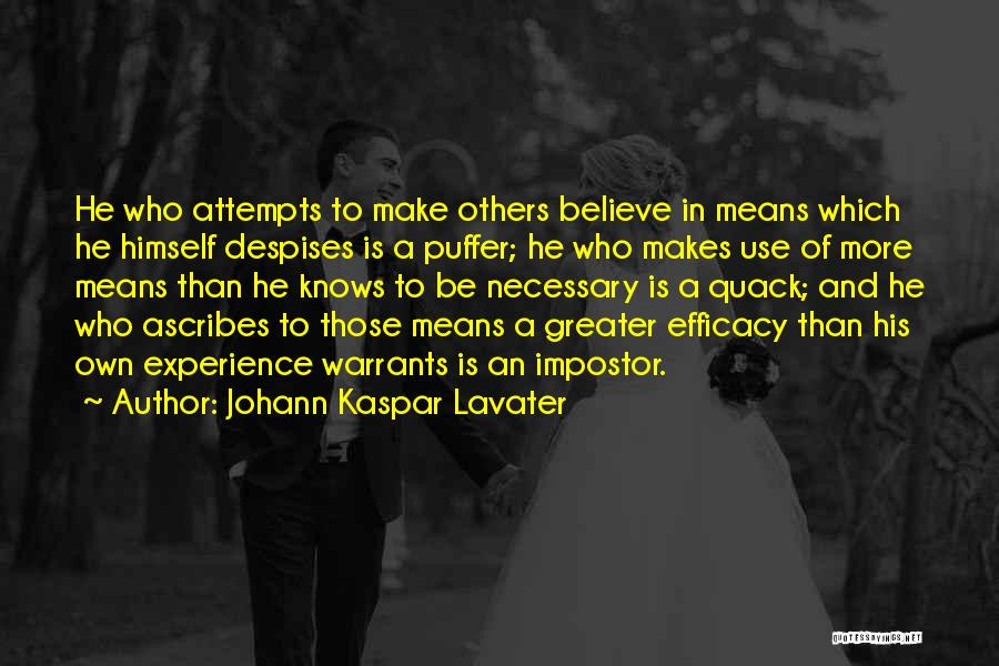 Quack Quotes By Johann Kaspar Lavater