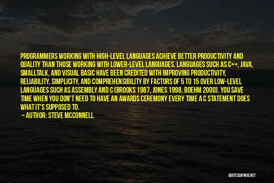Quality And Reliability Quotes By Steve McConnell