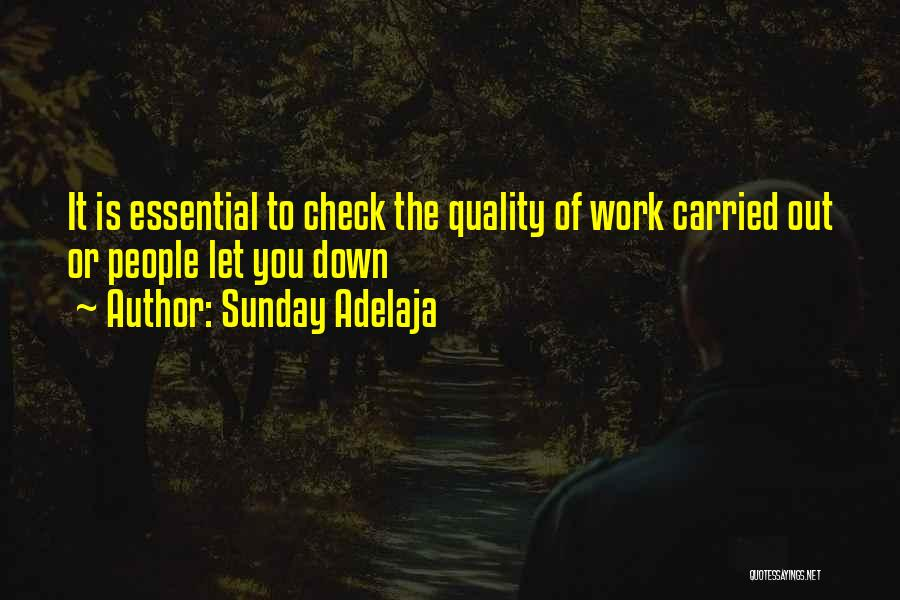 Quality Check Quotes By Sunday Adelaja