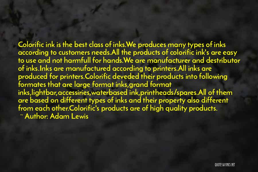 Quality Products Quotes By Adam Lewis