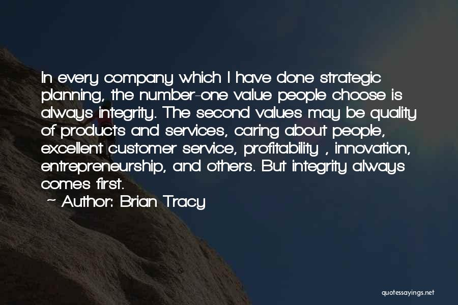 Quality Products Quotes By Brian Tracy