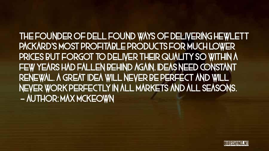 Quality Products Quotes By Max McKeown