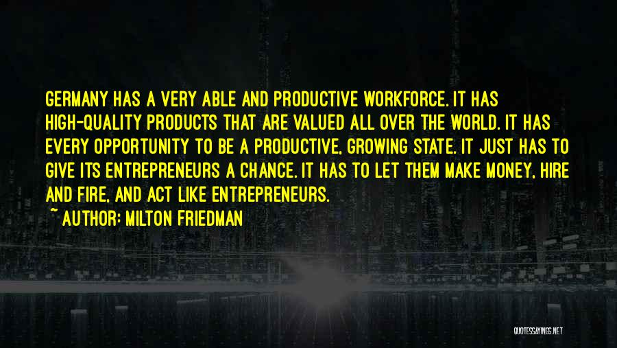 Quality Products Quotes By Milton Friedman