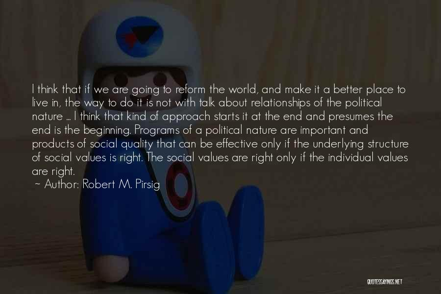 Quality Products Quotes By Robert M. Pirsig