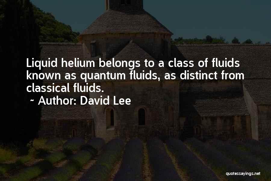 Quantum Quotes By David Lee