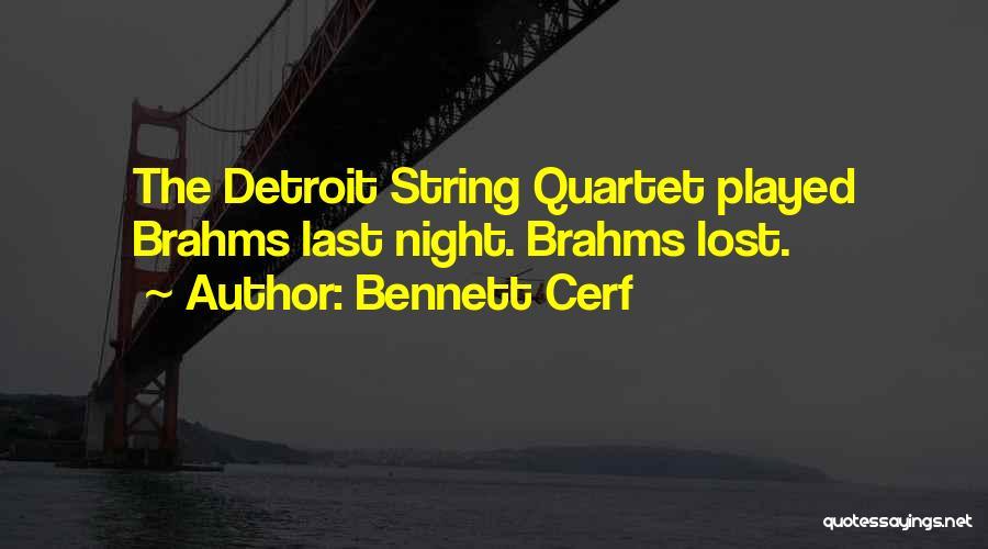 Quartet Quotes By Bennett Cerf
