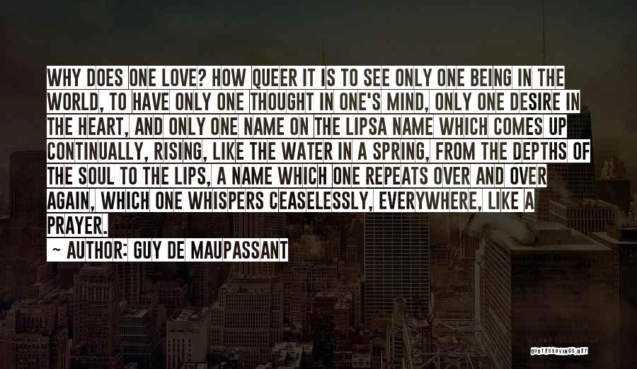 Queer Love Quotes By Guy De Maupassant