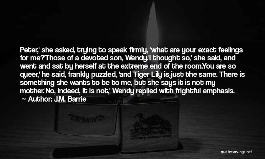 Queer Love Quotes By J.M. Barrie