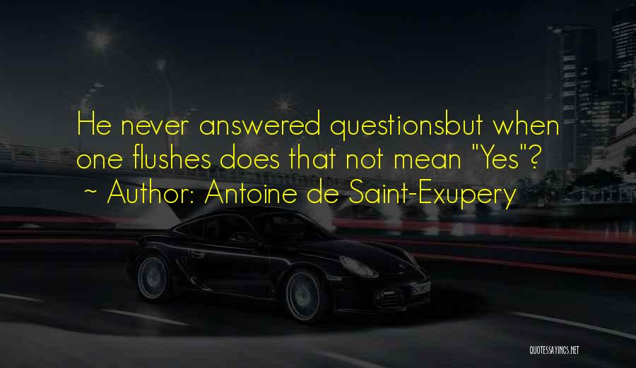 Questions Not Answered Quotes By Antoine De Saint-Exupery