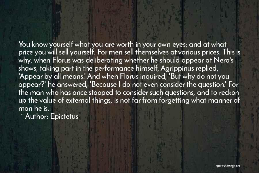 Questions Not Answered Quotes By Epictetus