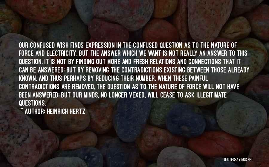 Questions Not Answered Quotes By Heinrich Hertz