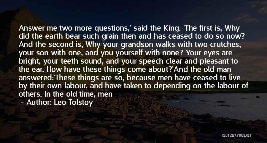 Questions Not Answered Quotes By Leo Tolstoy