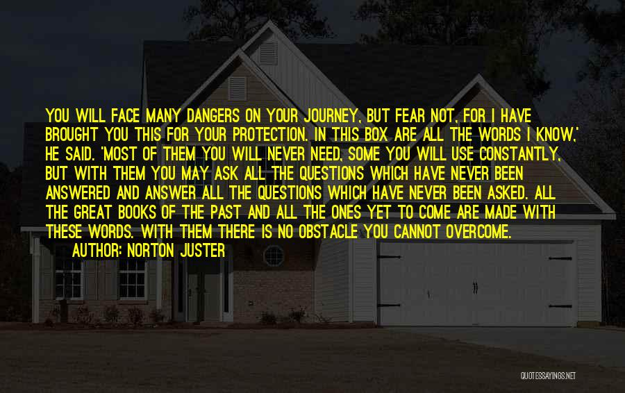 Questions Not Answered Quotes By Norton Juster