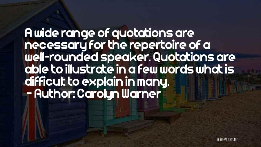 Quotations Quotes By Carolyn Warner