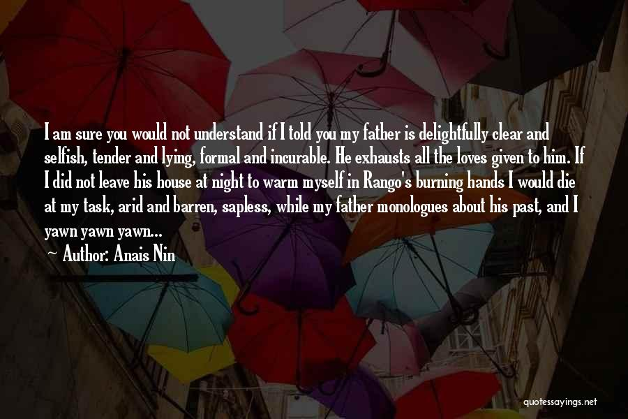 Quotes About Him Quotes By Anais Nin