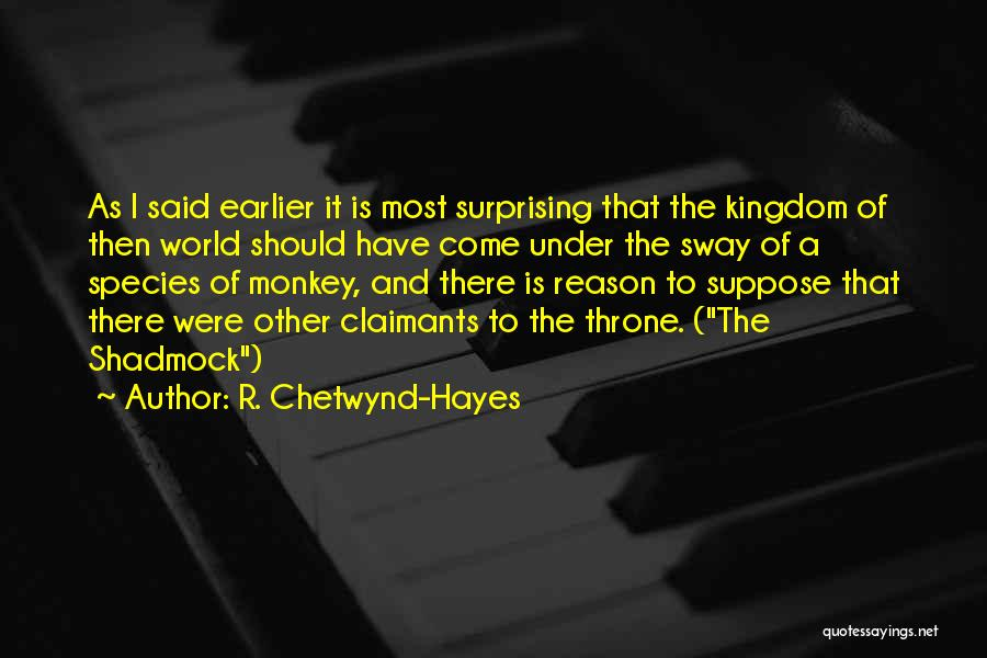 R. Chetwynd-Hayes Quotes 869509