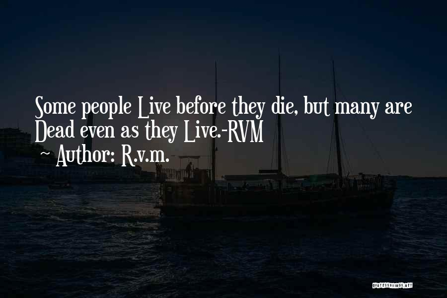 R&g Are Dead Quotes By R.v.m.