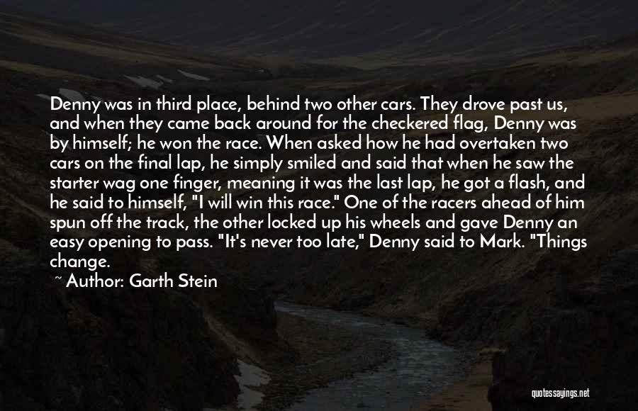 Race Cars Quotes By Garth Stein